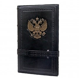 Картинка Визитница настольная «Россия» черная