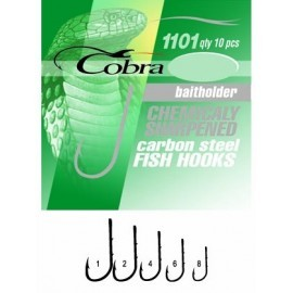 Картинка Крючки Cobra BAITHOLDER серия 1101NSB размер 002 10шт.