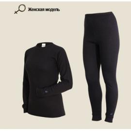 Картинка Комплект женского термобелья Laplandic: рубашка + лосины (A51-S-BK / A51-P-BK)