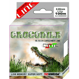 Картинка Леска SWD Crocodile 100м 0,18 (3,30кг) ваккум/уп прозрачная
