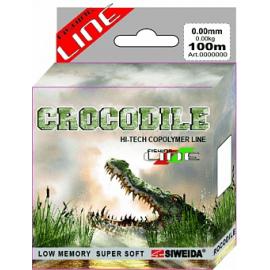 Картинка Леска SWD Crocodile 100м 0,2 (4,10кг) вакуум/уп прозрачная