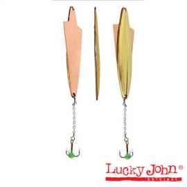 Картинка Блесна вертикал. зим. Lucky John Wing с цеп. и тр. 05.5г GS Блистер
