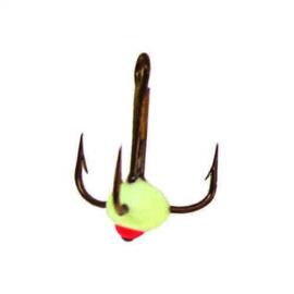 Картинка Крючок-тройник для приманок Lucky John с каплей цвет. разм.010/F