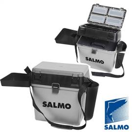 Картинка Ящик рыболовный зимний Salmo 2-х ярусный 5 частей пластик 39.5*24.5*38см серый