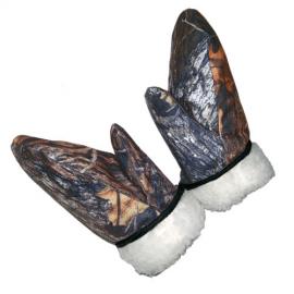 Картинка Варежки камуфлированные меховые мембрана Алова