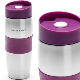 Картинка Термокружка Mayer&Boch 380мл нерж фиолетовая 24ч