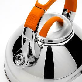 Картинка Чайник мет Mayer&Boch 2,7л со свистком оранжевая ручка