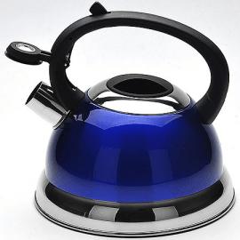 Картинка Чайник мет Mayer&Boch 2,3л со свистком синий