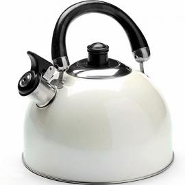 Картинка Чайник мет Mayer&Boch 2,7л со свистком белый