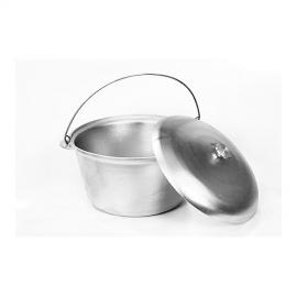 Картинка Котел литой алюминий с крышкой 10л