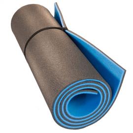 Картинка Коврик туристический двухслойный голубой антрацит 1800х600х12мм