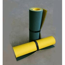 Картинка Коврик туристический двухслойный темно-зеленый желтый 1800х600х8мм