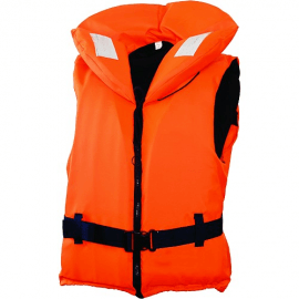 Картинка Жилет спасательный с воротником на молнии Norfin 100N 40-60кг оранжевый