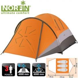 Картинка Палатка 3-х местная Norfin DELLEN 3 NS