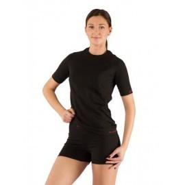 Картинка Футболка женская Lasting Alba короткий рукав, синтетика, черный