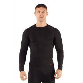 Картинка Футболка мужская Lasting APOL, длинный рукав, синтетика, черный