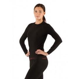 Картинка Футболка женская Lasting Atala, длинный рукав, синтетика, черный