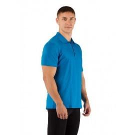 Картинка Поло мужское Lasting DINGO, короткий рукав, шерсть 160, голубой