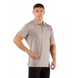 Картинка Поло мужское Lasting DINGO, короткий рукав, шерсть 160, серый
