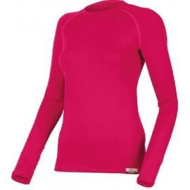 Картинка Футболка женская Lasting LENA, длинный рукав, шерсть 260, красный