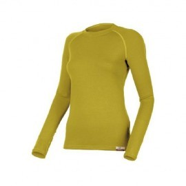 Картинка Футболка женская Lasting LENA, длинный рукав, шерсть 260, оливковый