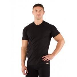 Картинка Футболка мужская Lasting Quido, короткий рукав, шерсть 160, черный