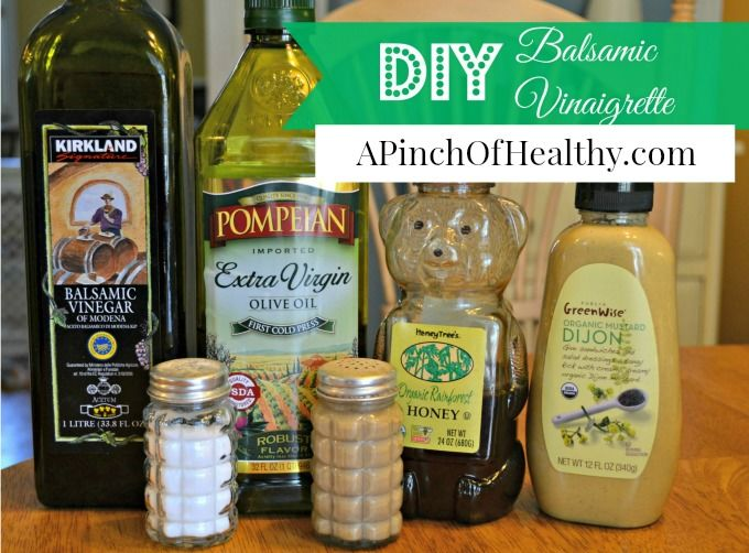 Easy Homemade Balsamic Vinaigrette A Pinch Of Healthy