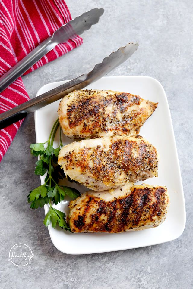 Grilled Chicken Breasts Easy Grill Pan Method A Pinch Of Healthy