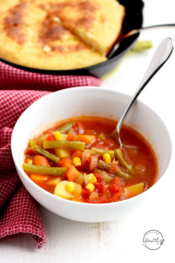 Tomato Vegetable Soup (Instant Pot or Stovetop) - A Pinch of Healthy