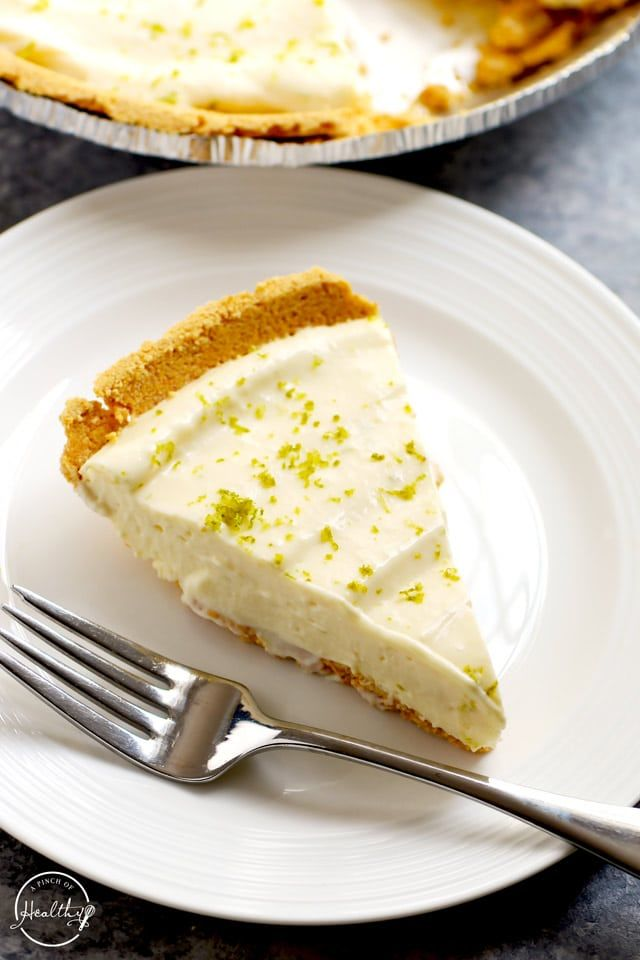 Easy Key Lime Pie No Bake Assembly Only A Pinch Of Healthy