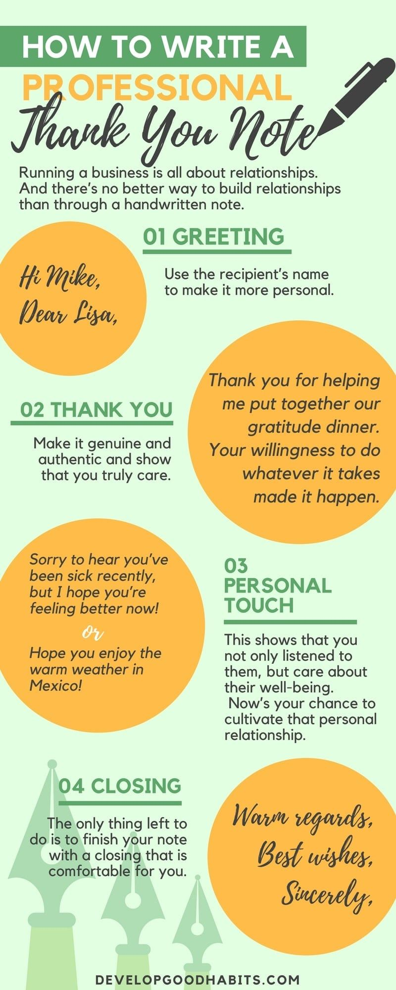 Write Professional Thank You Cards