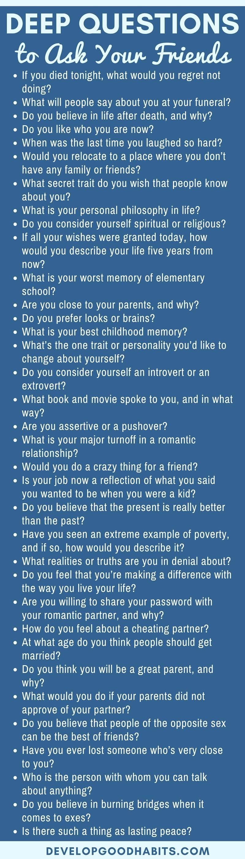 Ask to someone questions personality logo