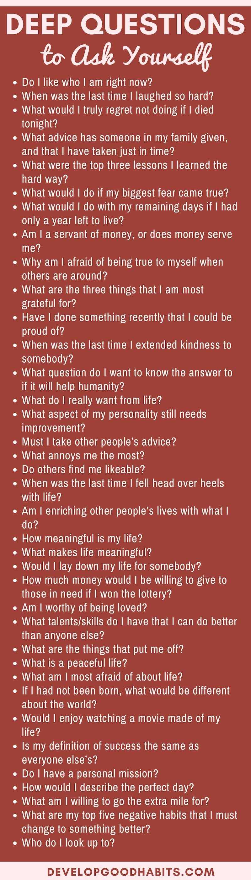 Very interesting questions to ask