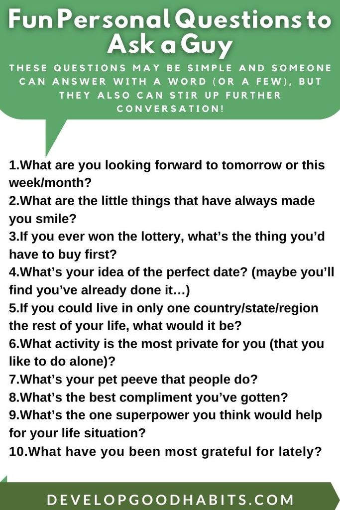 What questions to ask boys