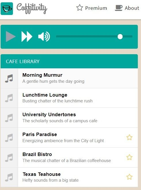 coffitivity | ambient sound app android | free background noise app