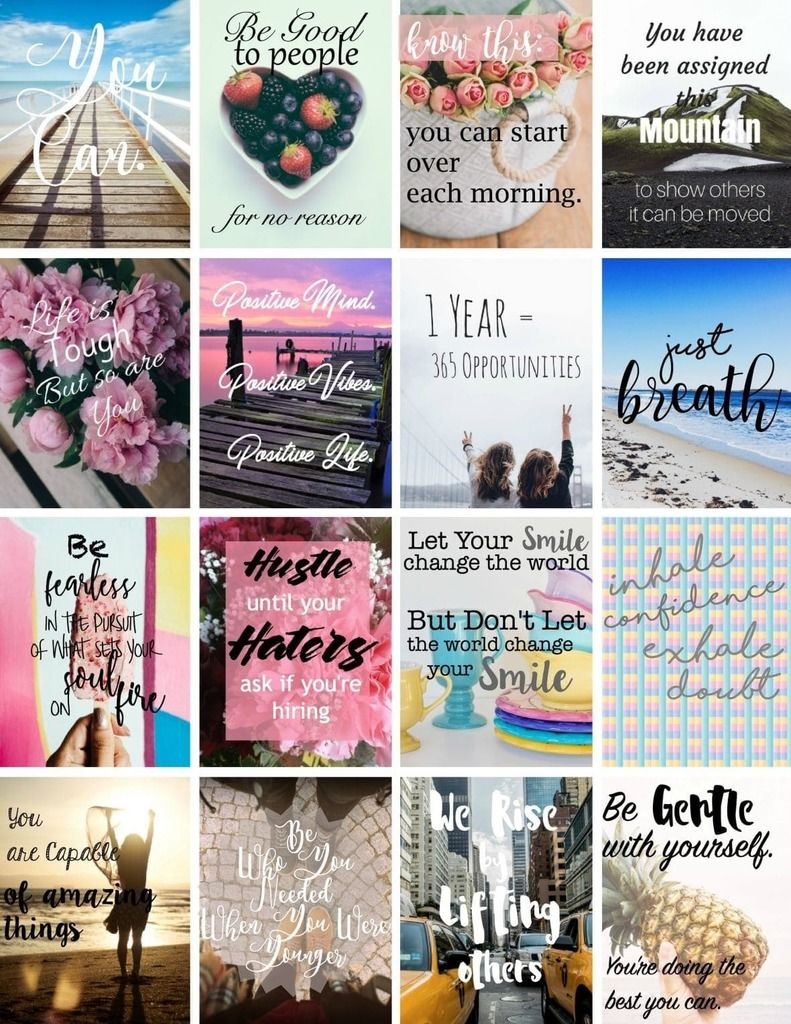 inspirational printable stickers | fitness vision board printables | printable vision board cards