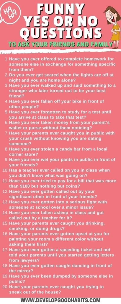 Boyfriend questions to your yes or no ask Yes or
