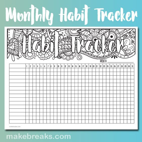 31 Free Printable Habit Tracker Templates For Your 2021 Goals