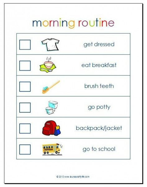 15 Morning Routine Charts To Print And Track Your Habits