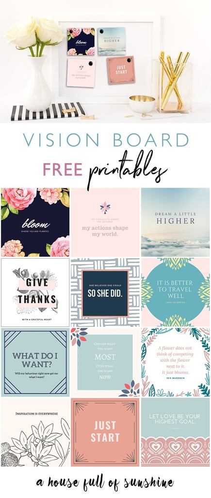 free printables for vision board | free vision board printables | free vision board printables pdf
