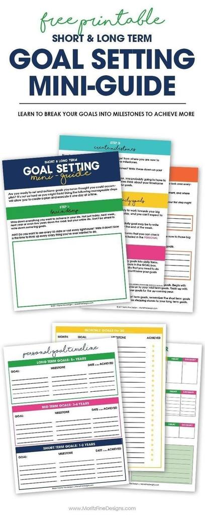 13 Free Goal Setting Tracking Printables For 2021