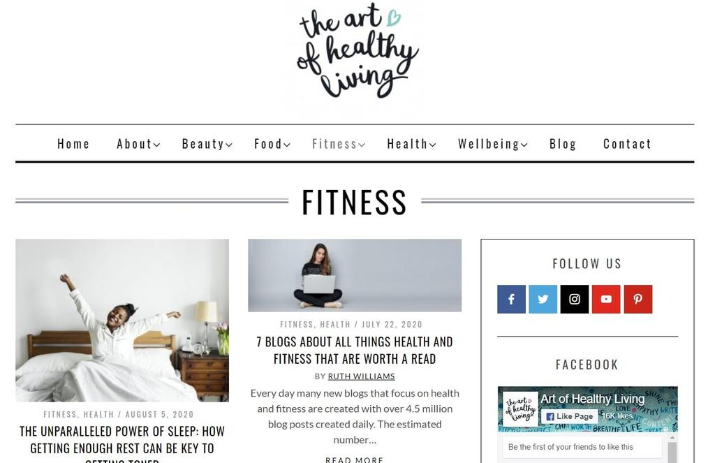 The Art of Healthy Living | best exercise websites | sports and fitness blogs