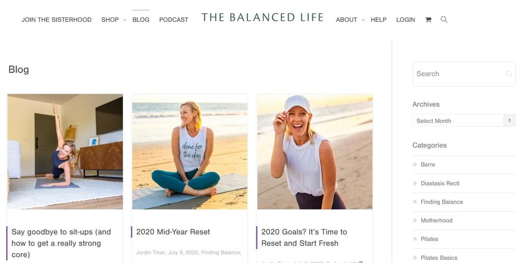The Balanced Life | best exercise websites | health and fitness blogs