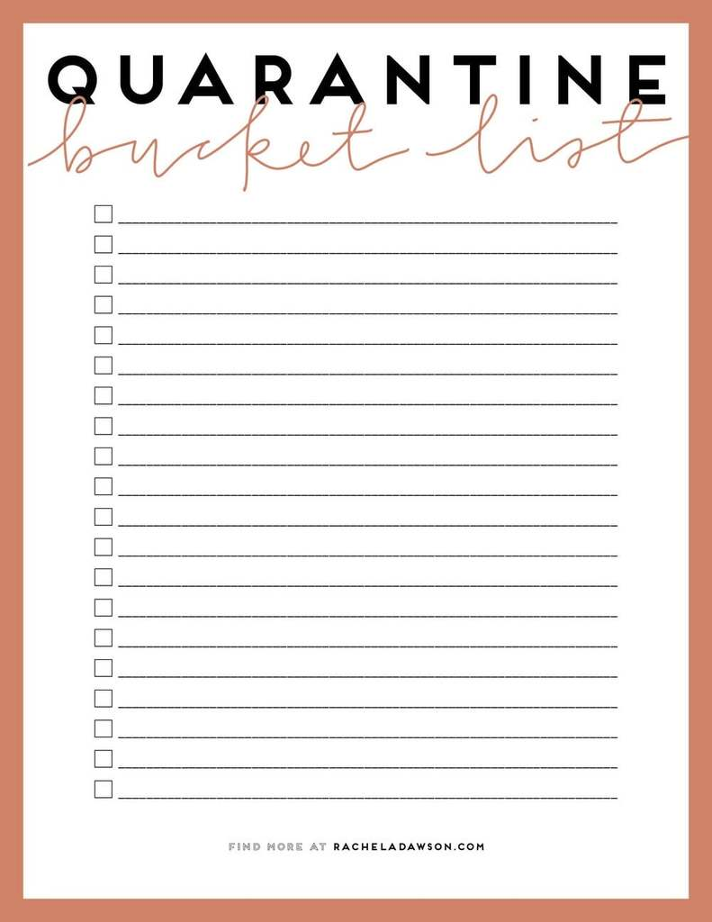 15 Printable Bucket List Templates For Your Dream Goals