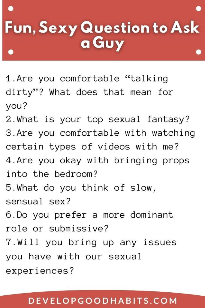 Sexy questions to ask him