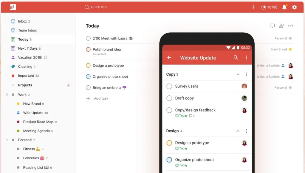 Todoist | organization apps for students | best app for organizing ideas