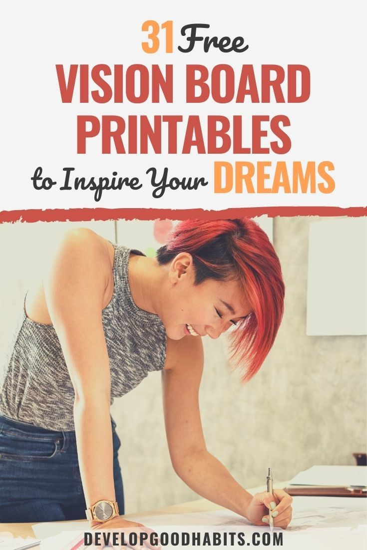31 Free Vision Board Printables to Inspire Your Dreams