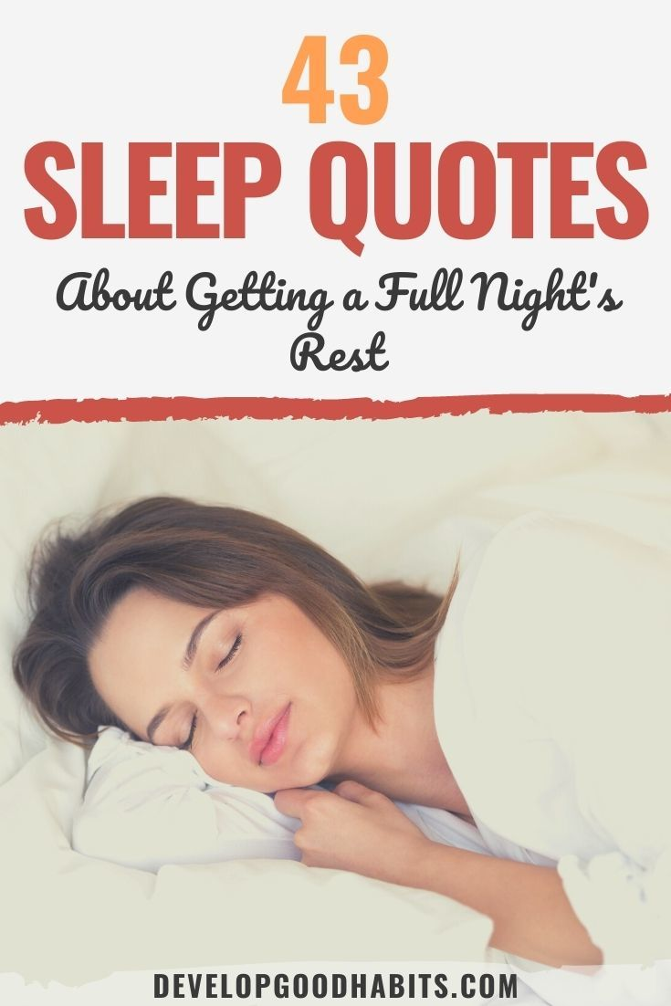 43 Sleep Quotes About Getting a Full Night's Rest