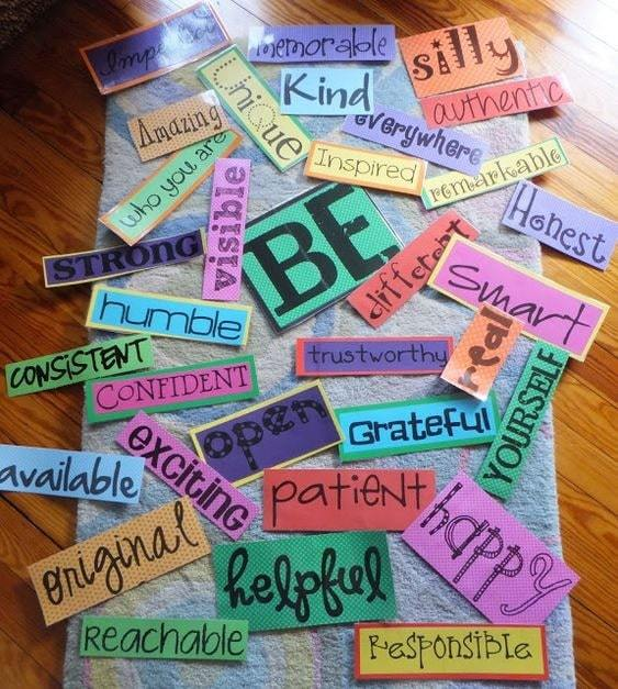 be_yourself   vision board for students   how to make a vision board
