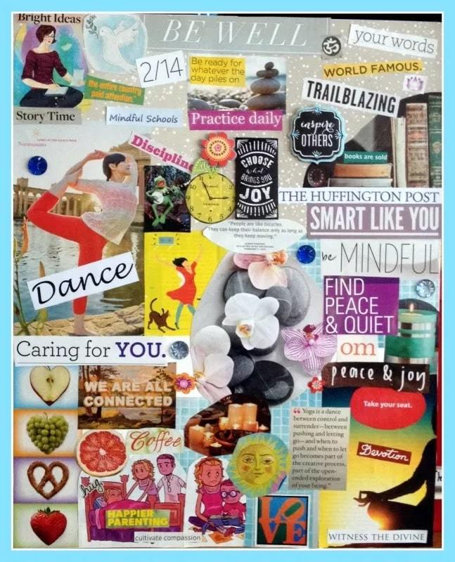 caring for you   vision board printables   vision board questions